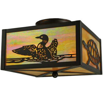 Loons and Turtles 2-Light Flush Mount