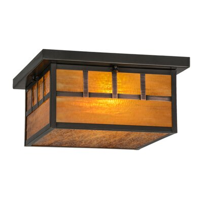 Hyde Park Triple Bar Mission 2-Light Flush Mount