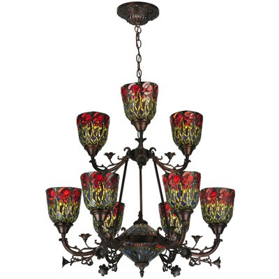 Rosebud 11-Light Shaded Chandelier