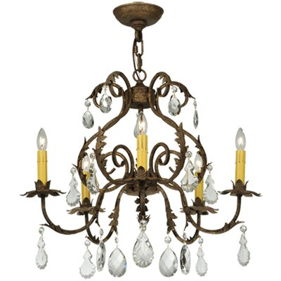 Chantilly 5-Light Candle-Style Chandelier