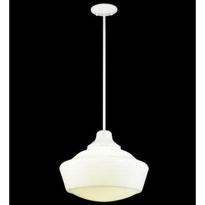 Revival Schoolhouse 1-Light Schoolhouse Pendant Base Finish: White