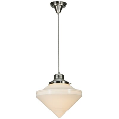 Revival Deco Cone 1-Light Schoolhouse Pendant