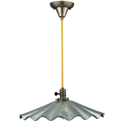 Metro Fusion Galatia Scalloped Faux Mercury Coated Seedy 1-Light Mini Pendant Base Finish: Vintage Copper