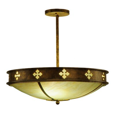 Byzantine 3-Light Semi-Flush Mount
