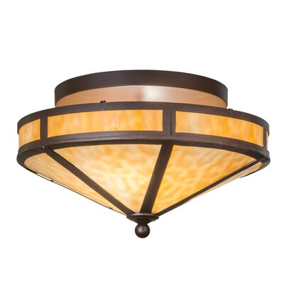 Mission Prime 2-Light Semi Flush Mount