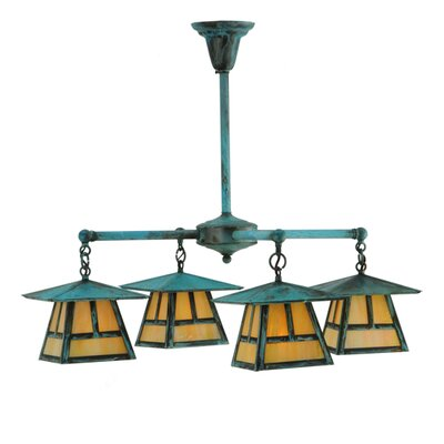 Craftsman Signature Stillwater T Mission 4-Light Shaded Chandelier