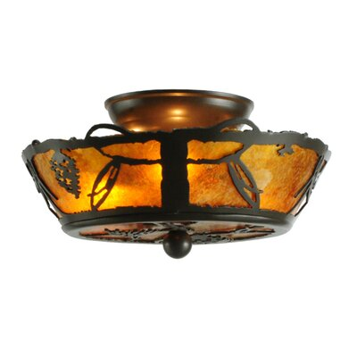 Whispering Pines 3-Light Flush Mount