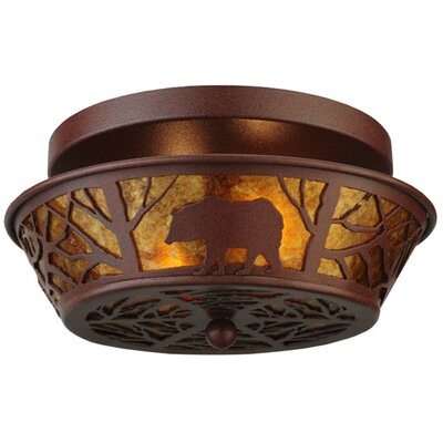 Bear on the Loose 2-Light Semi Flush Mount