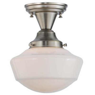 Revival Schoolhouse Globe 1-Light Semi-Flush Mount