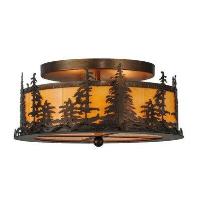 Tall Pines 2-Light Semi-Flush Mount