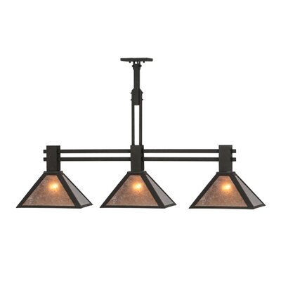 Soffe Mission 3-Light Kitchen Island Pendant Size: 28 H x 45 W x 11.5 D