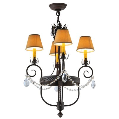 Antonia 4-Light Shaded Chandelier