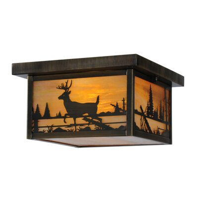 Hyde Park Deer Creek 2-Light Flush Mount