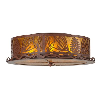 Mountain Pine 4-Light Flush Mount
