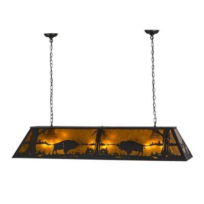 Buffalo at Lake 9-Light Pool Table Pendant