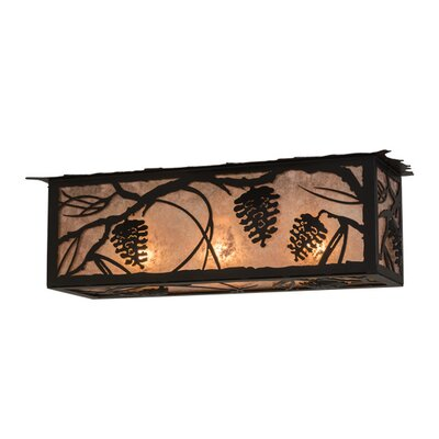 Whispering Pines Oblong 3-Light Flush Mount