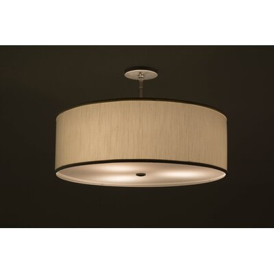 Cilindro Textrene 3-Light Drum Pendant Size: 15.5 H x 24 W x 24 D