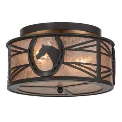 Horseshoe 2-Light Flush Mount Finish: Timeless Bronze