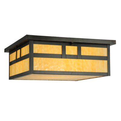 Hyde Park Double Bar Mission 4-Light Flush Mount