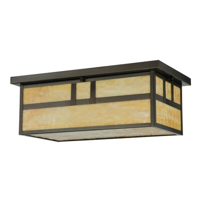 Hyde Park Double Bar Mission Oblong 2-Light Flush Mount