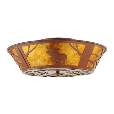 Northwoods Moose on the Loose 4-Light Flush Mount
