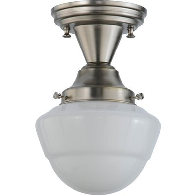 Revival Schoolhouse W/Emma Globe 1-Light Semi Flush Mount