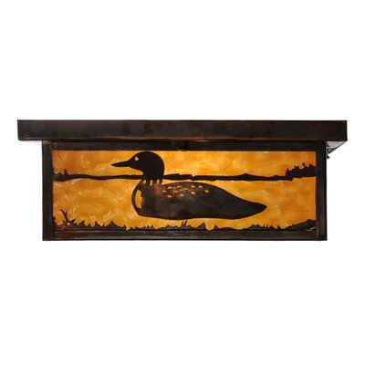 Hyde Park Loon 2-Light Flush Mount Size: 6 H x 20 W x 20 D