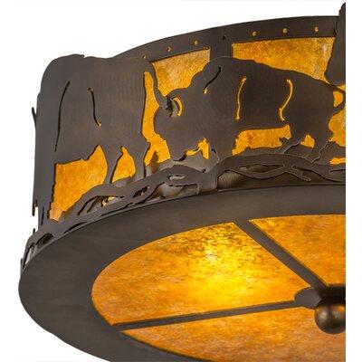 Buffalo 2-Light Flush Mount