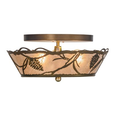 Whispering Pines 3-Light Semi Flush Mount