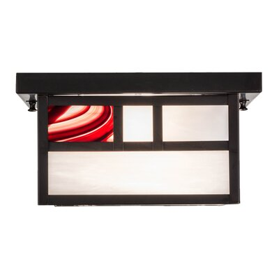 Hyde Park Double Bar Mission 2-Light Flush Mount
