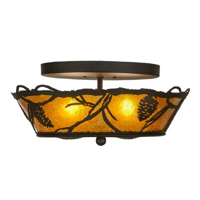 Whispering Pines 2-Light Semi Flush Mount