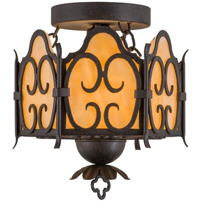 Radha 1-Light Semi Flush Mount