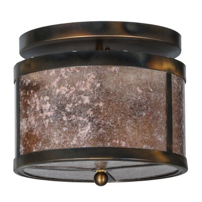 Smythe Craftsman Mica 2-Light Semi-Flush Mount