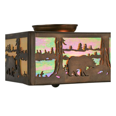 Bear at Lake 2-Light Flush Mount