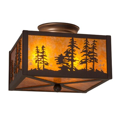 Tall Pines 2-Light Flush Mount