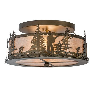 Fly Fishing Creek 2-Light Flush Mount