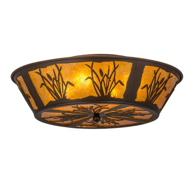 Reeds and Cattails 4-Light Flush Mount