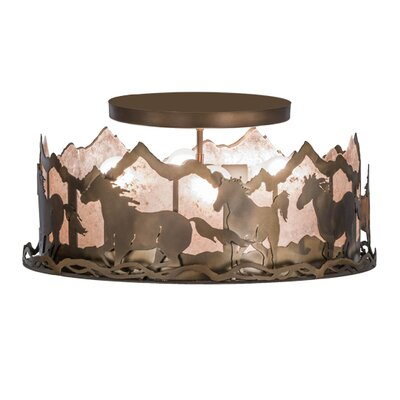 Wild Horses 4-Light Semi Flush Mount