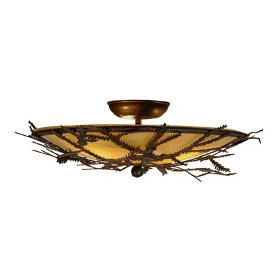 Pine Branch 3-Light Semi-Flush Mount