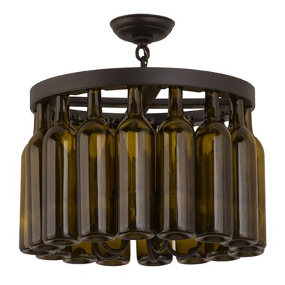 Tuscan Vineyard Estate 5-Light Semi-Flush Mount