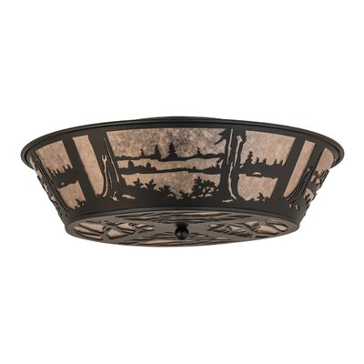 Quiet Pond 4-Light Flush Mount
