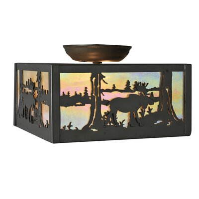 Moose at Lake 2-Light Semi-Flush Mount