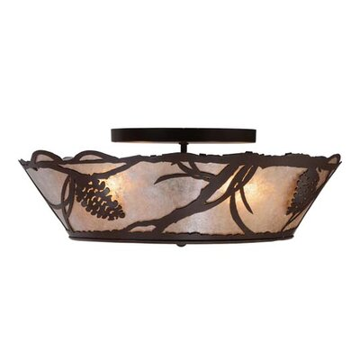 Pinecone 4-Light Flush Mount