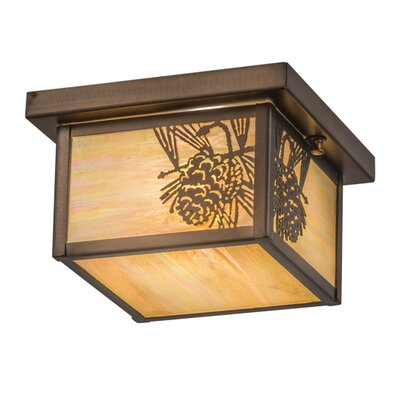 Hyde Park Winter Pine 1-Light Flush Mount