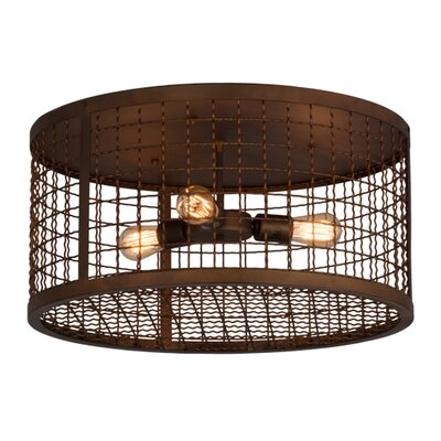 Paloma Golpe 3-Light Flush Mount