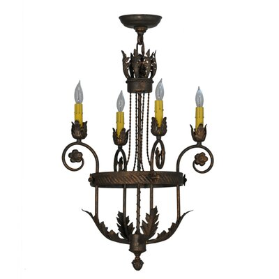 Antonia 4-Light Candle-Style Chandelier