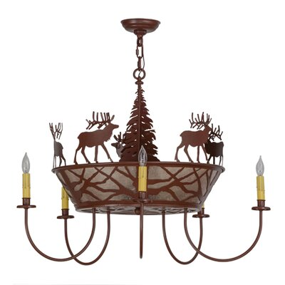 Elk on The Loose 8-Light Candle-Style Chandelier