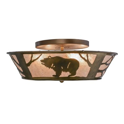 Grizzly Bear on the Loose 4-Light Flush Mount