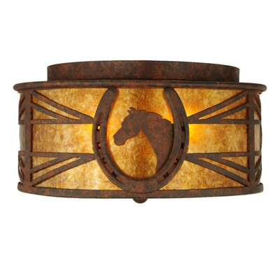 Horseshoe 2-Light Flush Mount