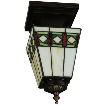 Diamond Band Mission 1-Light Semi Flush Mount